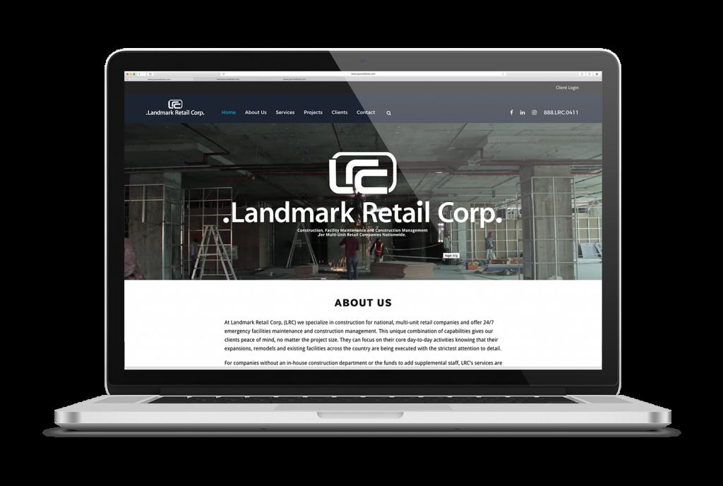 high-end construction website after