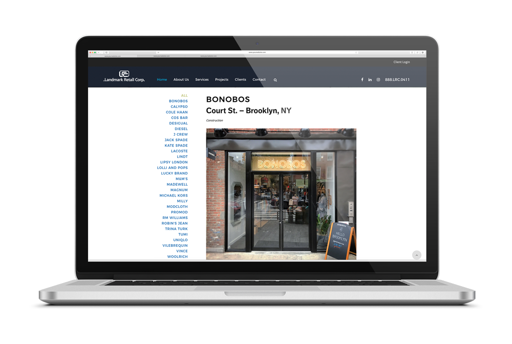 high-end construction website project