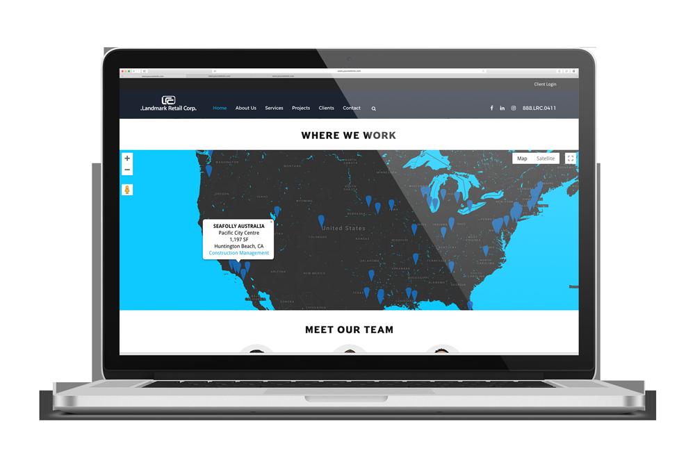 high-end construction website-map